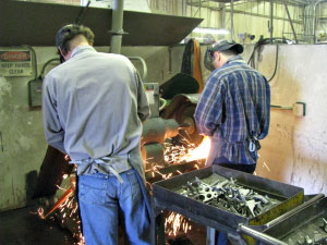 Investment Casting Finishing Operation - Gate Grinding - Dal-Air Investment Castings - Point TX