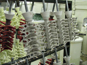 Investment Casting Shell Building - Dal-Air Investment Castings - Point TX